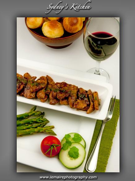 Pork Marsala with Asparagus