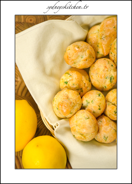 Lemon-Parsley Gougeres